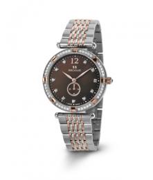 Relógio Feminino Seculus Swiss Made 17041064M2TRBR Pulseira de aço e vidro de Safira com 02 anos de Garantia