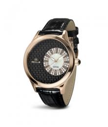 Relógio Feminino Seculus Swiss Made 167221063LBSSB Pulseira de couro e vidro de Safira com 02 anos de Garantia