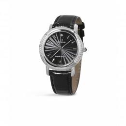 Relógio Feminino Seculus Swiss Made 167321063LBSSB Pulseira de couro e vidro de Safira com 02 anos de Garantia