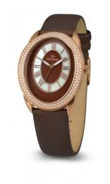 Relógio Feminino Seculus Swiss Made 170151063LBRBR Pulseira de couro e vidro de Safira com 02 anos de Garantia