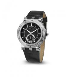 Relógio Feminino Seculus Swiss Made 170251069LBSSB Pulseira de couro e vidro de Safira com 02 anos de Garantia