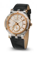 Relógio Feminino Seculus Swiss Made 170251069LBTRW Pulseira de couro e vidro de Safira com 02 anos de Garantia