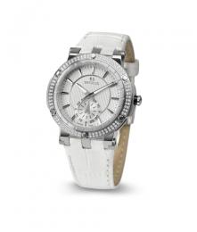 Relógio Feminino Seculus Swiss Made 170251069LWSSW Pulseira de couro e vidro de Safira com 02 anos de Garantia