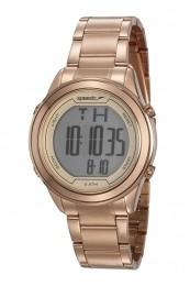 Relógio Feminino Speedo Pulseira de Aço Inoxidável Rose Gold Fundo LCD Positivo