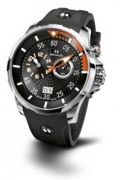 Relógio Masculino Esportivo Seculus Swiss Made 4505422SILSSBO Pulseira de poliuretano e vidro de Safira com 02 anos de Garantia