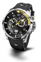 Relógio Masculino Esportivo Seculus Swiss Made 4505422SILSSBY Pulseira de poliuretano e vidro de Safira com 02 anos de Garantia