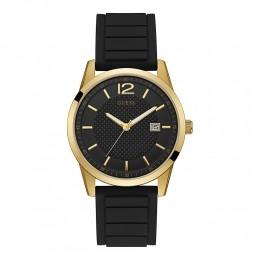Relógio Masculino Guess Watches Pulseira de Esportivo Dourado Fundo Preto