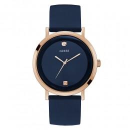 Relógio Masculino Guess Watches Pulseira de Esportivo Azul Fundo Azul