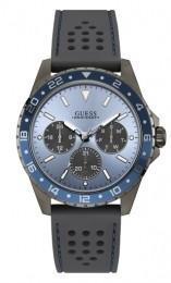 Relógio Masculino Guess Watches Pulseira de Esportivo Cinza Fundo Azul