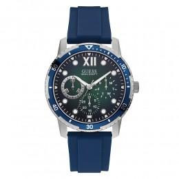 Relógio Masculino Guess Pulseira de Esportivo Azul Fundo Verde 92726G0GSNU1