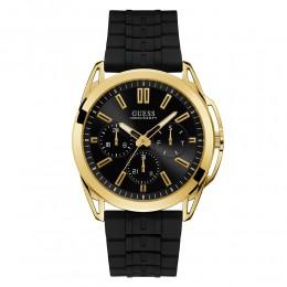 Relógio Masculino Guess Watches Pulseira de Esportivo Preto Fundo Preto