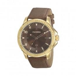 Relógio Masculino Mondaine Pulseira de Couro Sintético Marrom Fundo Marrom 99494GPMVDH1
