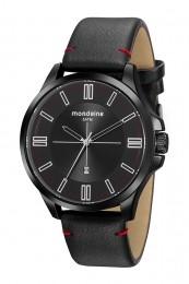 Relógio Masculino Mondaine Pulseira de Couro Sintético Preto Fundo Preto 76755GPMVPH2