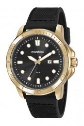 Relógio Masculino Mondaine Pulseira de Silicone Preto Fundo Preto 99413GPMVDI3