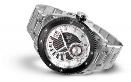Relógio Masculino Seculus Swiss Made 9535704PMSSBWB Pulseira de aço e vidro de Safira com 02 anos de Garantia