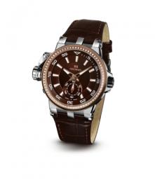 Relógio Masculino Seculus Swiss Made 17031069L2RSTB Pulseira de couro e vidro de Safira com 02 anos de Garantia