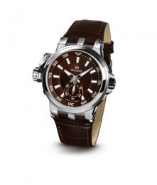 Relógio Masculino Seculus Swiss Made 17031069LBRBRA Pulseira de couro e vidro de Safira com 02 anos de Garantia
