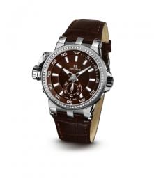 Relógio Masculino Seculus Swiss Made 17031069LBRSSA Pulseira de couro e vidro de Safira com 02 anos de Garantia
