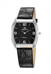 Relógio Masculino Seculus Swiss Made 44531106LBSSBA Pulseira de couro e vidro de Safira com 02 anos de Garantia