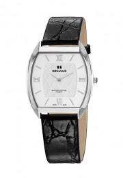 Relógio Masculino Seculus Swiss Made 44531106LBYWR Pulseira de couro e vidro de Safira com 02 anos de Garantia