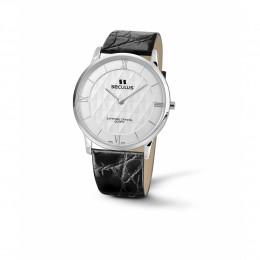 Relógio Feminino Seculus Swiss Made Pulseira de  Couro Coleção Flatline Fascination 44551106LBSSWR