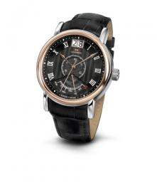 Relógio Masculino Seculus Swiss Made 450637003L2TRB Pulseira de couro e vidro de Safira com 02 anos de Garantia