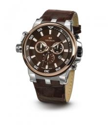 Relógio Masculino Seculus Swiss Made 4510503L2TSSBR Pulseira de couro e vidro de Safira com 02 anos de Garantia