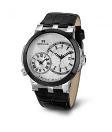 Relógio Masculino Seculus Swiss Made 4511775LB2TBW Pulseira de couro e vidro de Safira com 02 anos de Garantia