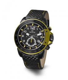 Relógio Masculino Seculus Swiss Made 4515LBIPBY Pulseira de couro e vidro de Safira com 02 anos de Garantia