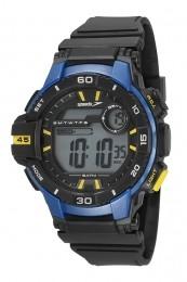 Relógio Masculino Speedo Pulseira de Poliuretano Preta Fundo LCD Positivo 11008G0EVNP1