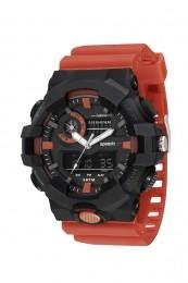 Relógio Masculino Speedo Pulseira de Poliuretano Vermelha Fundo LCD Negativo