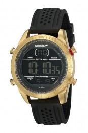 Relógio Masculino Speedo Pulseira de Silicone Preta Fundo LCD Negativo