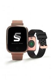 Relógio Smarttwatch Seculus Rose Gold Quadrado Troca Pulseiras 79006MPSVRE3 Urbano