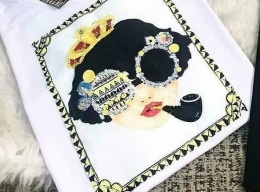 TSHIRT Princesa Rebelde Fashion com detalhes em Pedraria 100721