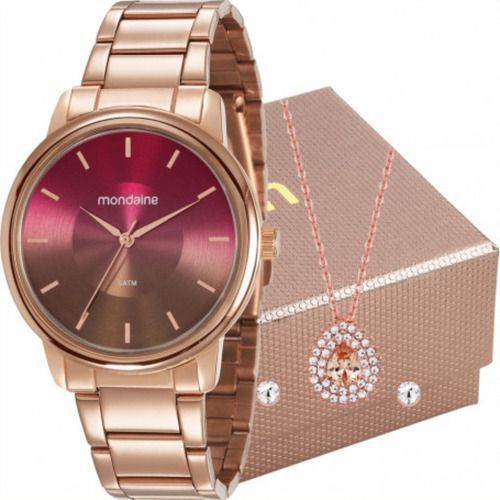 Kit Relógio Feminino Mondaine 53606lpmvre8k1