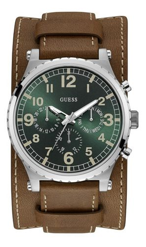 Relógio Masculino Guess Couro 92735g0gtnc1