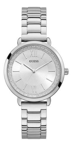 Relógio Feminino Guess Pulseira de Aço Prata Fundo Prata 92739L0GDNA1