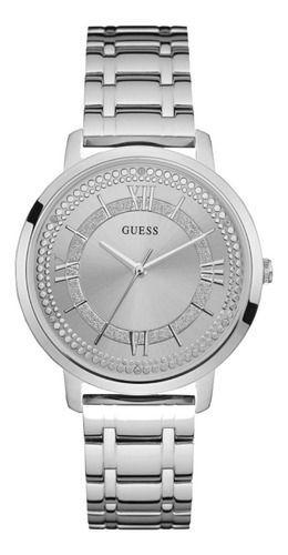 Relógio Feminino Guess Pulseira de Aço Prata Fundo Prata 92635L0GDNA1