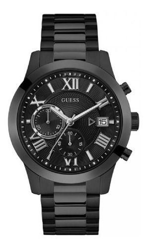 Relógio Masculino Guess Watches Pulseira de Aço Preto Fundo Preto