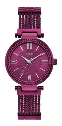 Relógio Feminino Guess Pulseira de Aço Roxo Fundo Roxo 92580LPGDFA5