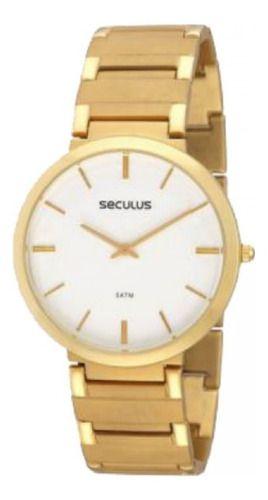 Relógio Masculino Seculus 24214gpseda1 Ultra Fino