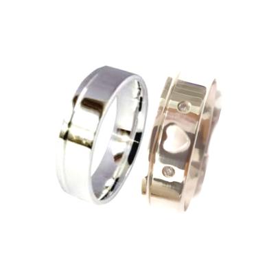 Aliança de Namoro Prata GC Reta KTAL707608APT 6mm