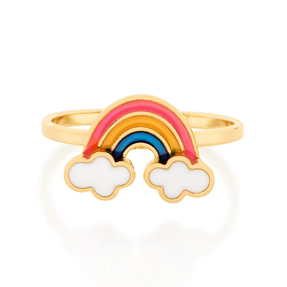 Anel rommanel arcoíris com aplicação de resina 512873