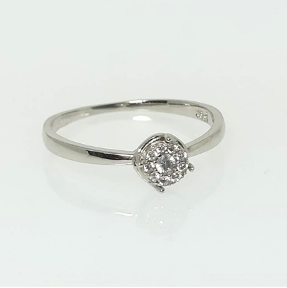 Anel Chuveirinho com Zircônias Diamante GC 0450722020000 Folheado a Rhodium