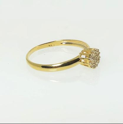 Anel Chuveirinho com Zircônias GC Folheado a Ouro 0462249020000