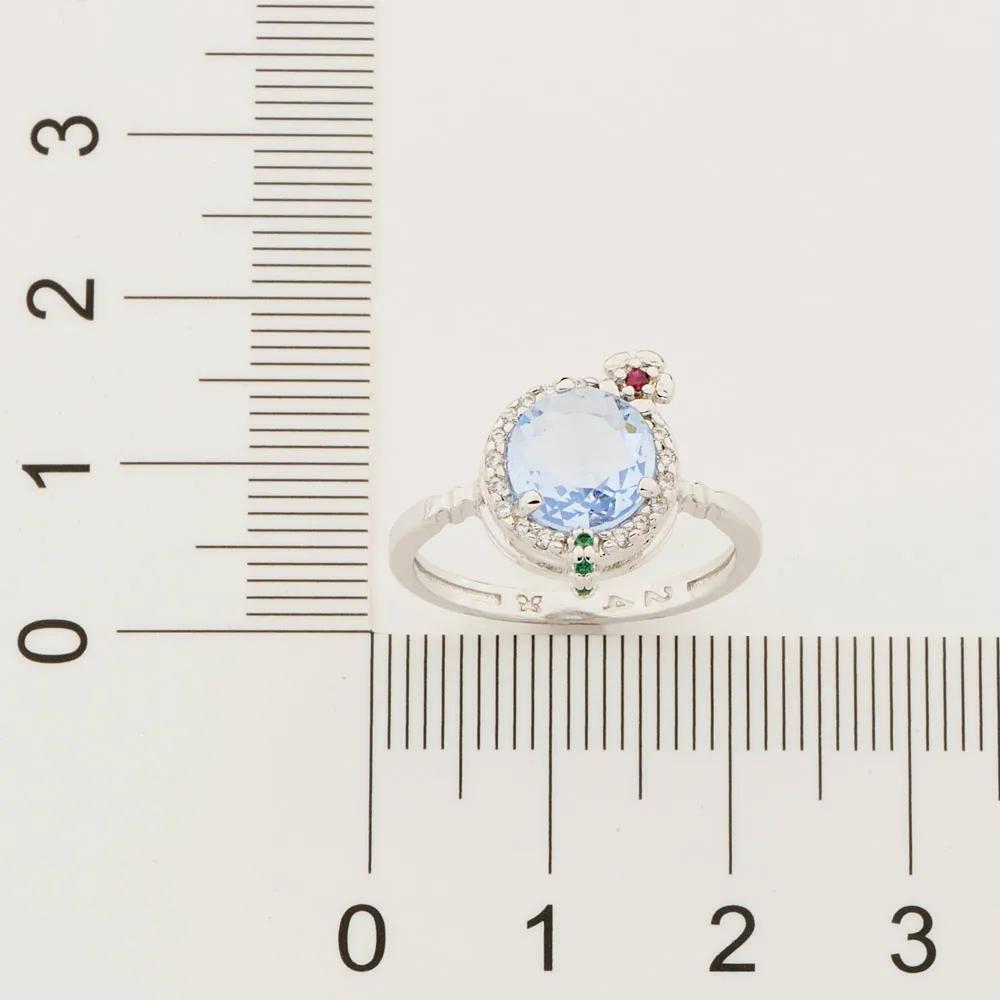 Anel feminino rommanel 110839 rhodium com zircônias ana hickmann