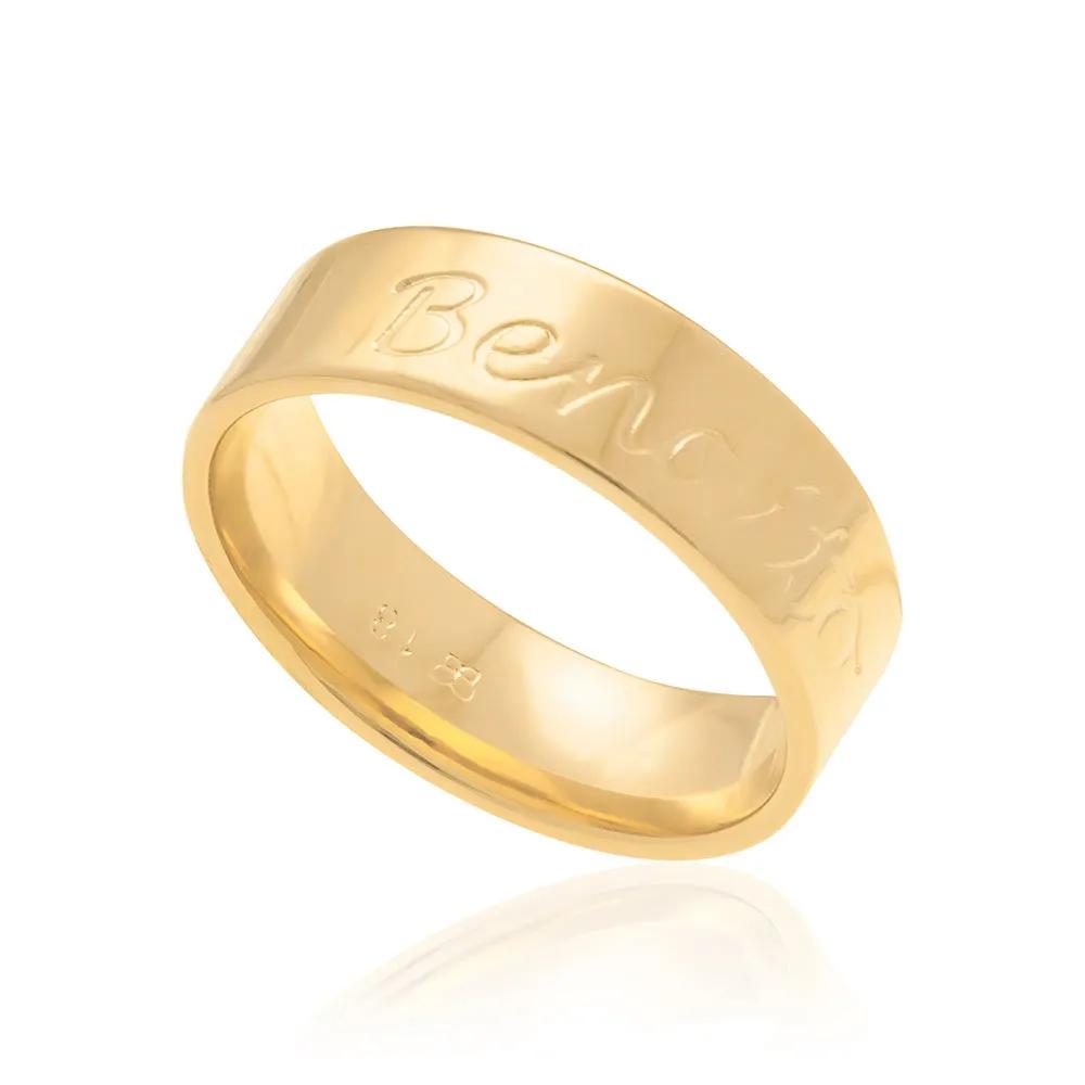 Anel feminino rommanel 512224 escrita bendito