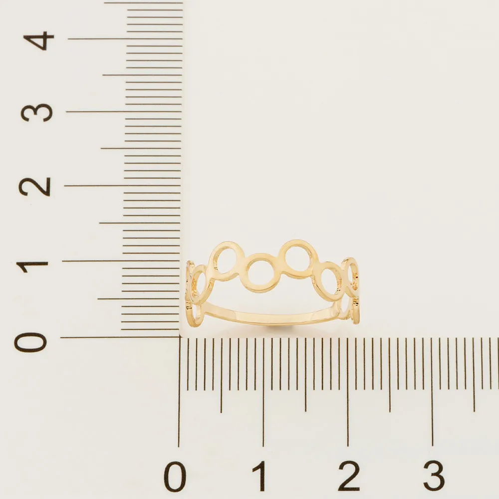 Anel feminino rommanel 512849 círculos simone & simaria