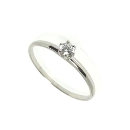 Anel Solitário Zirc|Ônia Diamante GC Folheado a Rhodium 04510100200003