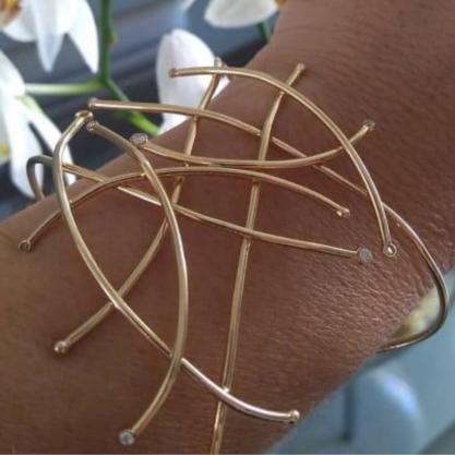 Bracelete GC Ramos 3D com Zircônias Folheado a Ouro CR4491BCDR